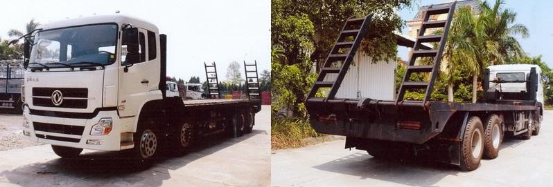 xe phooc 18 tấn chở máy công trình