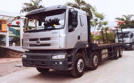 Xe tải nâng đầu chở máy công trình 16t Hải Âu
