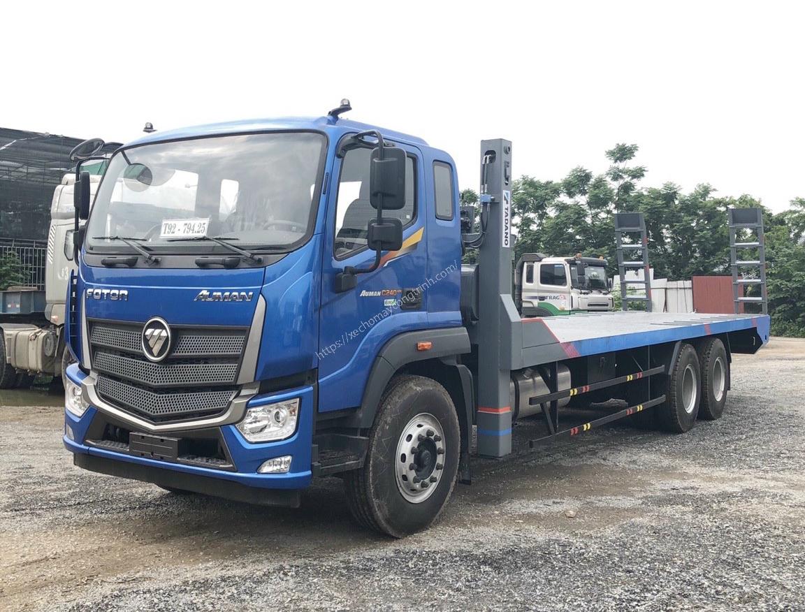 Xe nâng đầu chở máy 3 chân Thaco Auman trọng tải 12,4 tấn
